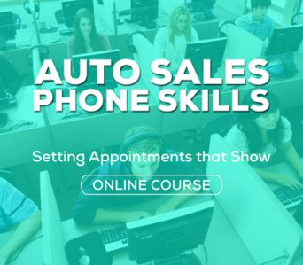 Auto Sales Phone Skills Online Course